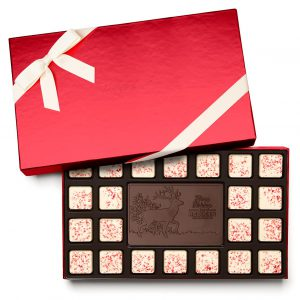 Custom 23 piece ensemble engraved belgian chocolate with logo
