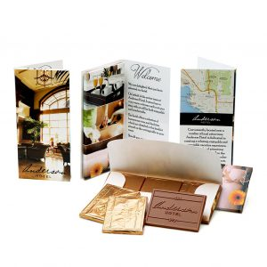 custom custom chocolate 7335 printed folder belgian chocolate trio custom custom rollover