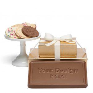 custom chocolate 8202 grand 2 piece gift tower cookies bar custom rollover