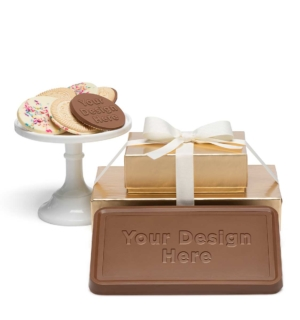 custom chocolate 8202 grand 2 piece gift tower cookies bar custom rollover