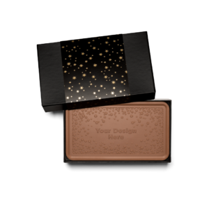 Personalized Appreciation Above & Beyond Milk Chocolate Grand Bar in Black Packaging