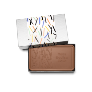 Personalized Birthday Big Birthday Wishes Milk Chocolate Grand Bar in Silver Packaging