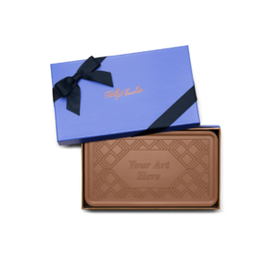 Personalized Signature Holidays Milk Chocolate Grand Bar in Signature Blue Packaging