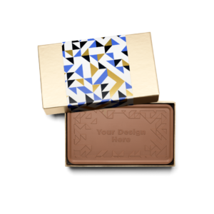 Personalized Thank You Thank You Milk Chocolate Grand Bar in Gold Packaging