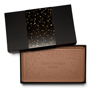 Personalized Appreciation Above & Beyond Milk Chocolate Indulgent Bar in Black Packaging