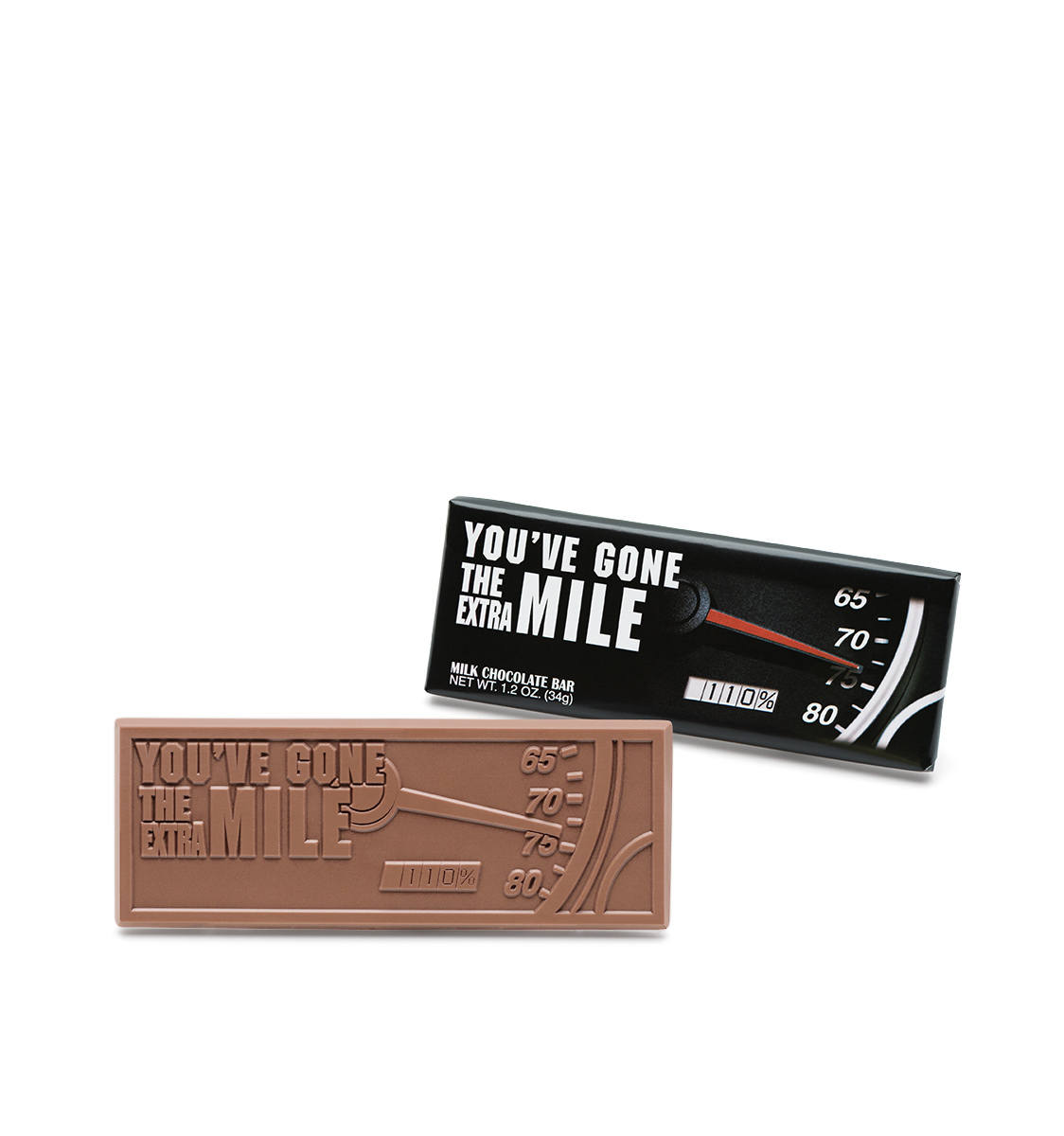 Extra Mile Wrapper Bars Belgian Milk Chocolate Case Of 50