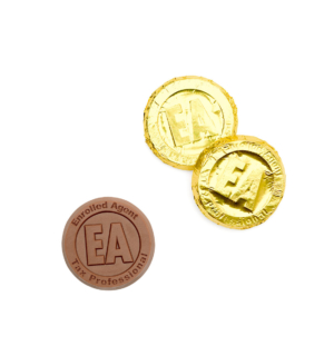 ready-gift-chocolate-SHX325060X-enrolled-agent-milk-chocolate-coin-in-gold-foil-featured