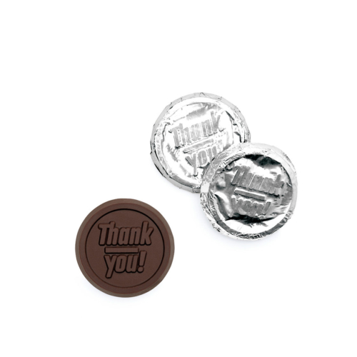 these are custom thank you chocolate coins
