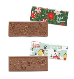 ready-gift-chocolate-SHX250012T-crimson-poinsettia-winter-village-milk-chocolate-wrapper-bar-set