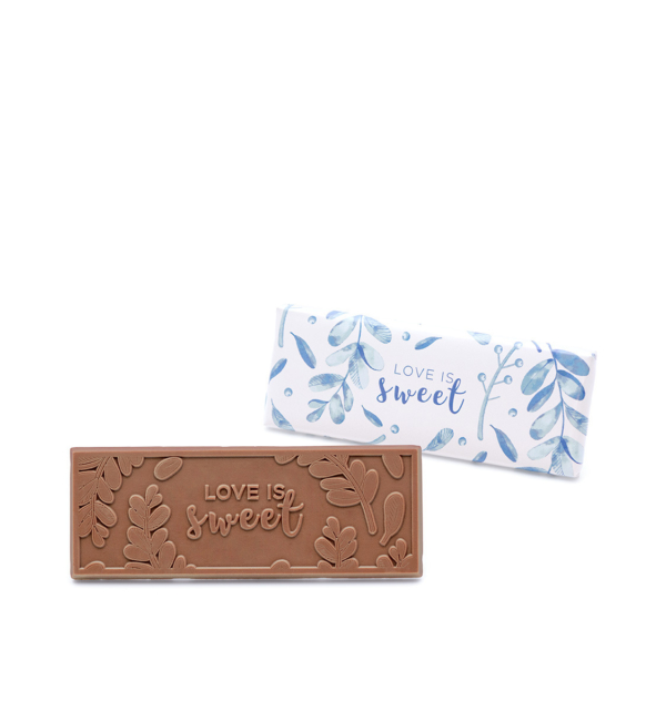 ready-gift-chocolate-SHX222113T-wedding-Love-Is-Sweet-milk-2x5-wrapper-bar