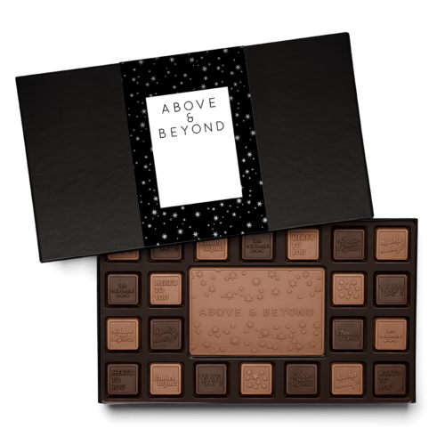 You can design appreciation chocolate squares with your own brand