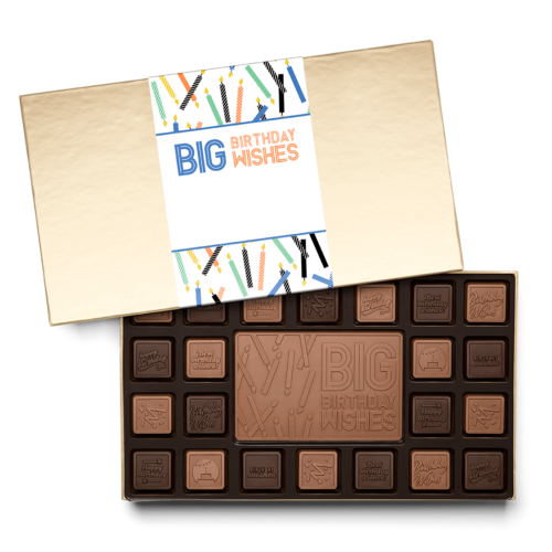 our personalized chocolate squares can design for your birthday