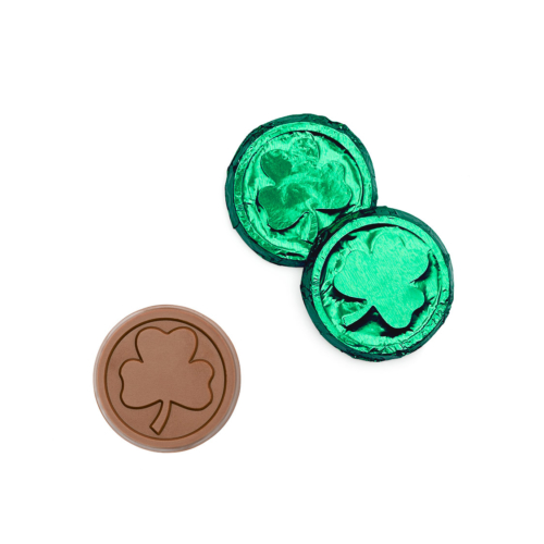 we have shamrock chocolate coins for giving your luck