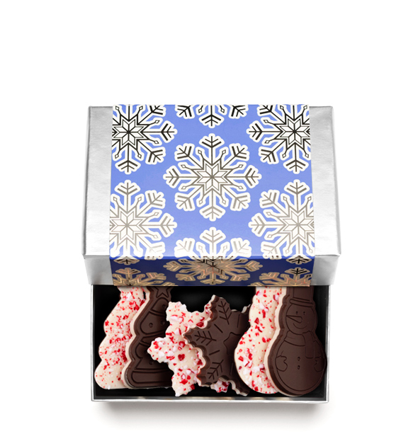 ready-gift-chocolate-SHX641207T-shimmering-snowflake-6-piece-peppermint-bark-shapes-snowflake-snowman-tree