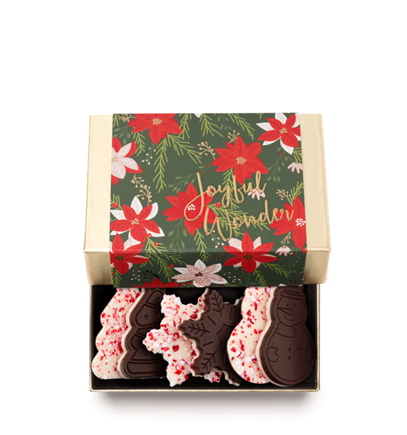 ready-gift-chocolate-SHX641209T-poinsettia-joyful-wonder-6-piece-peppermint-bark-shapes-snowflake-snowman-tree