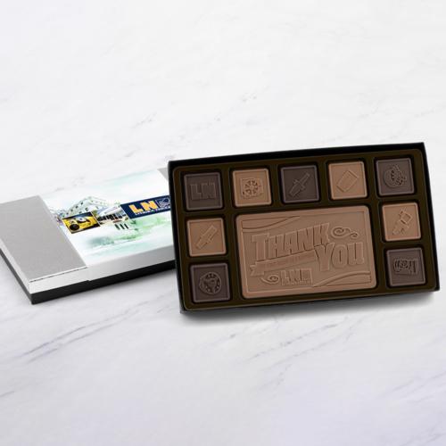 19 pieces of chocolate squares
