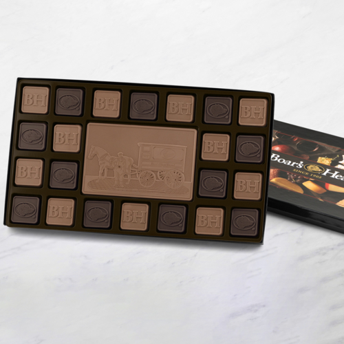 you can print your company logo or sign on chocolate squares