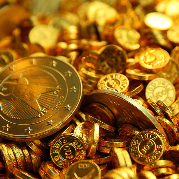 You can order custom chocolate coins for your business